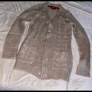Fall Cotton Cardigan Sweater.